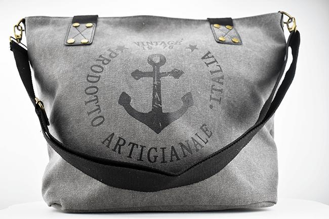 tasche mit anker im vintage look handtaschen klein. Black Bedroom Furniture Sets. Home Design Ideas