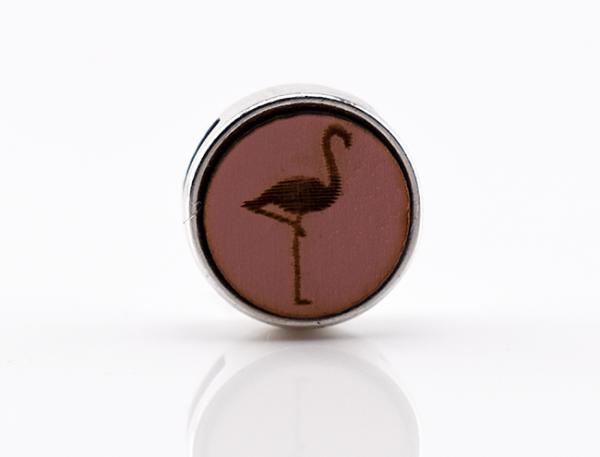 Holzschiebeperle Flamingo