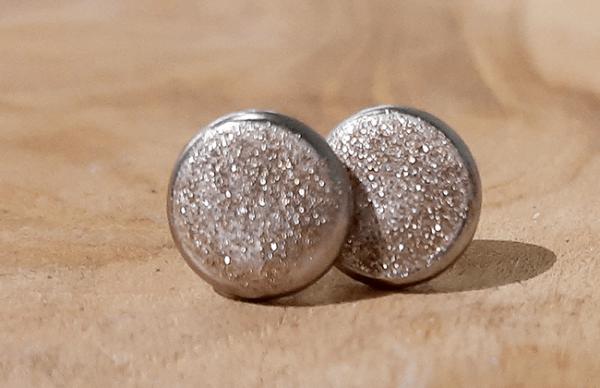 Betonohrstecker sparkling bronze