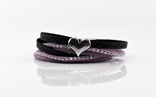Armband mit Magnetverschluß, rosa, mandala