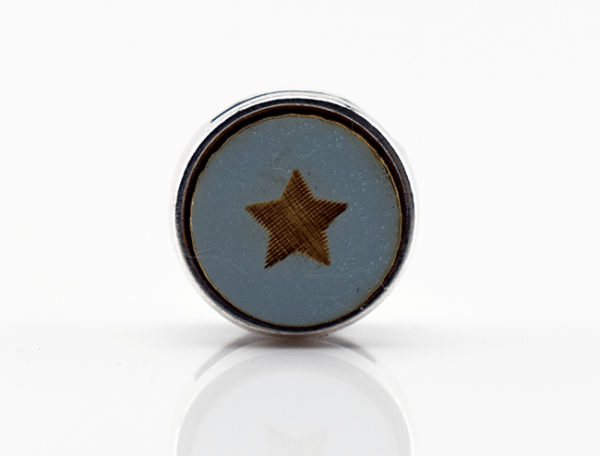 Holzschiebeperle kleiner Stern, mint