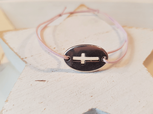 Glücksbändchen Kreuz